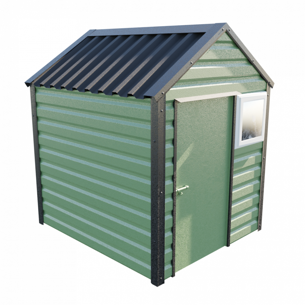6' x 7' Apex Shed - Olive Green