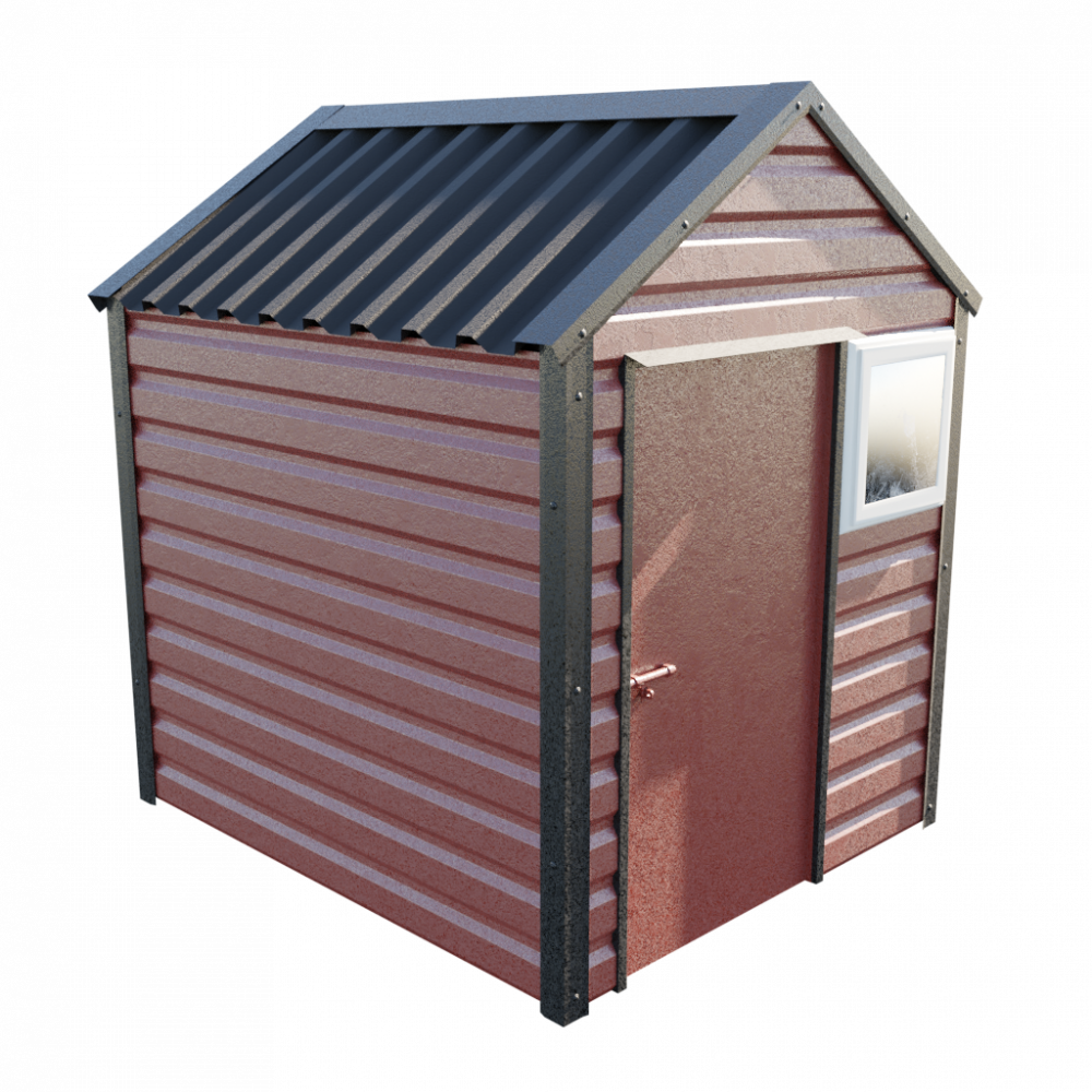 6' x 7' Apex Shed - Terracotta