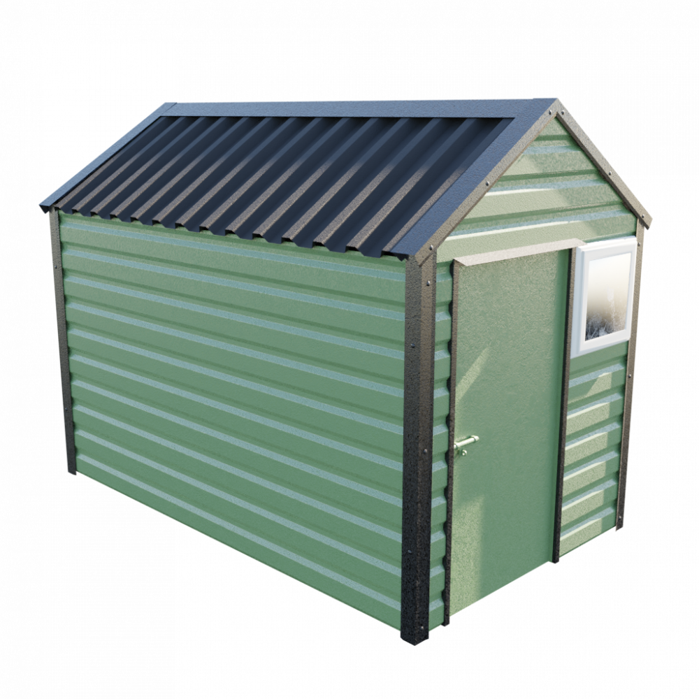"6' x 10'3"" Apex Shed - Olive Green"