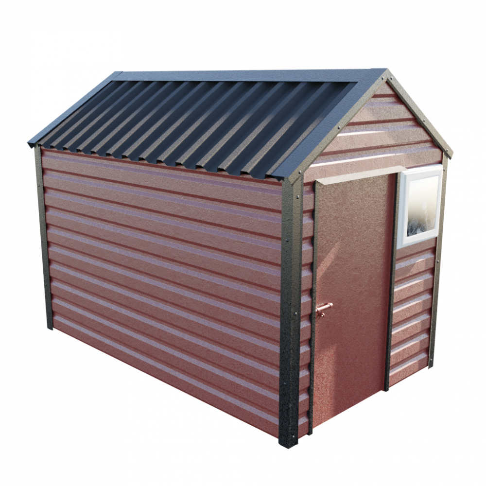 "6' x 10'3"" Apex Shed - Terracotta"
