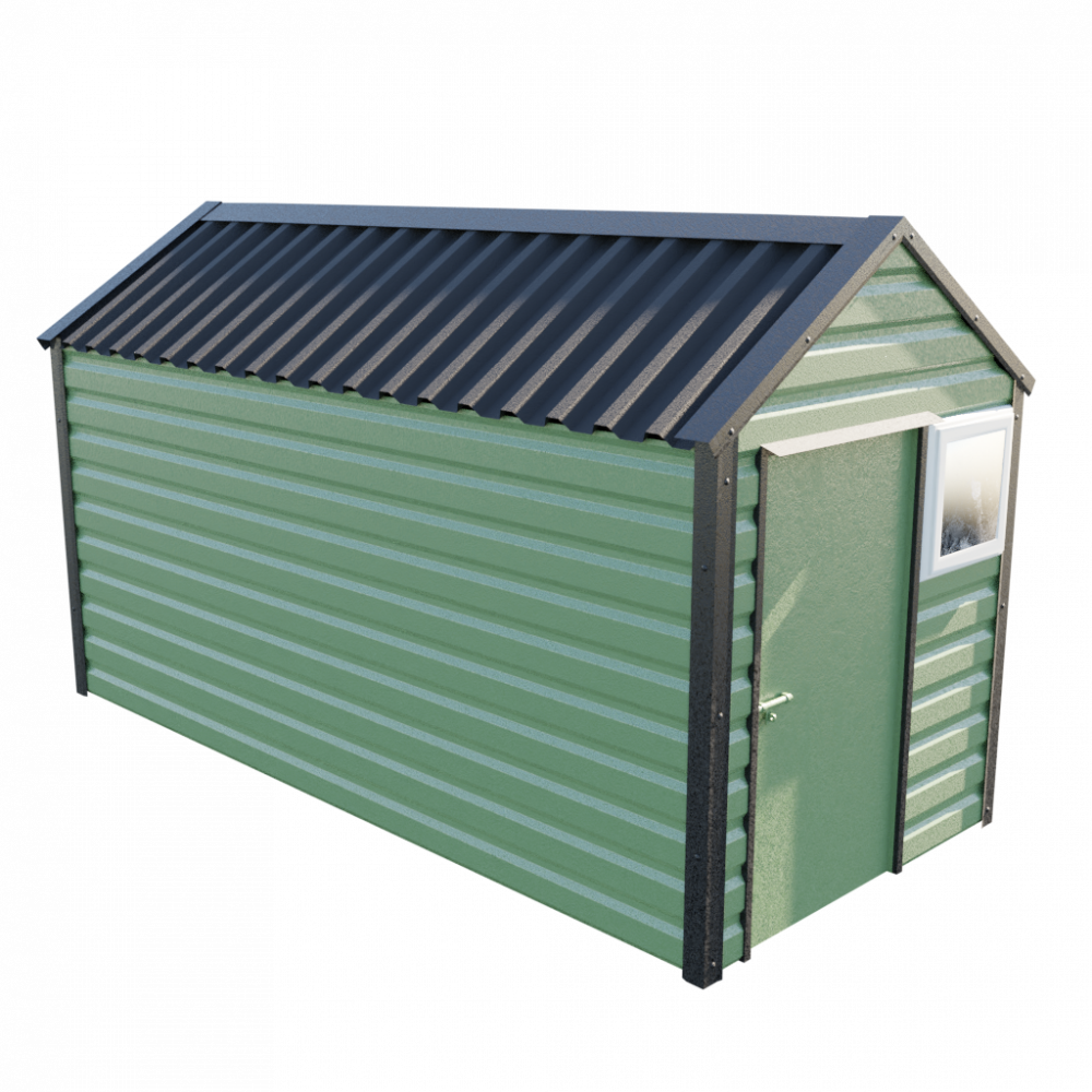"6' x 13'6"" Apex Shed - Olive Green"