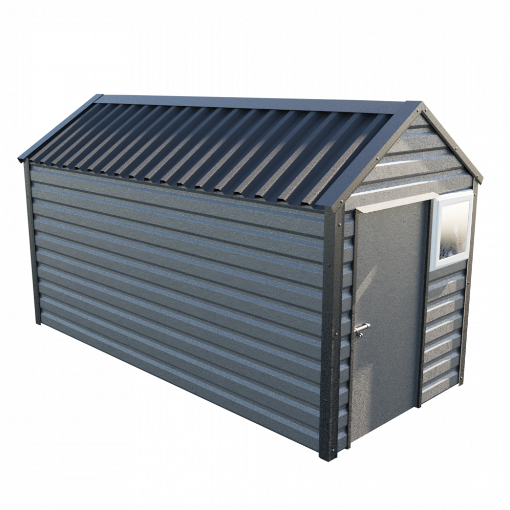 """6' x 13'6"""" Apex Shed - Anthracite"""