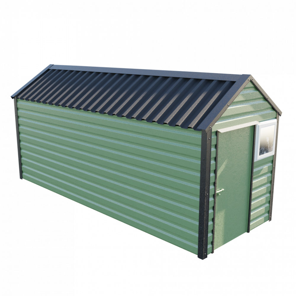 "6' x 16'9"" Apex Shed - Olive Green"