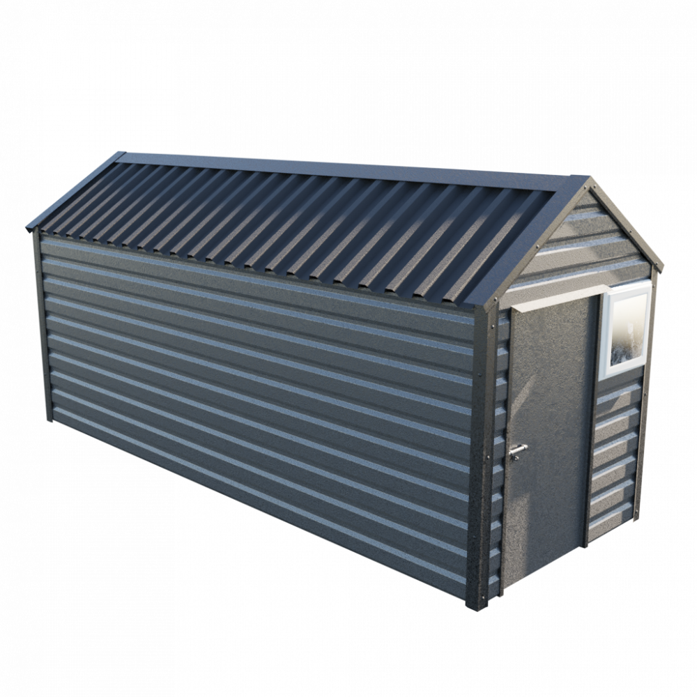 """6' x 16'9"""" Apex Shed - Anthracite"""
