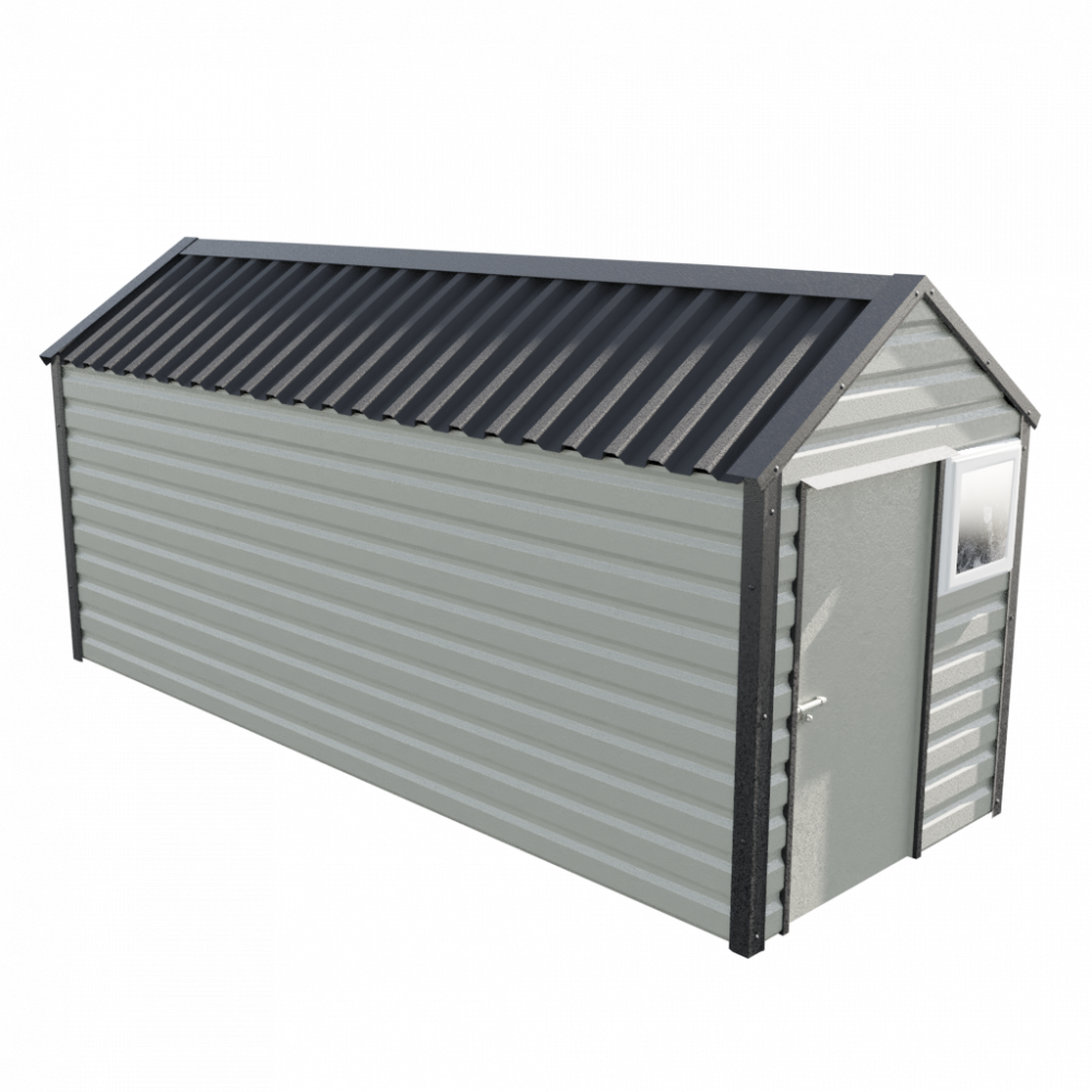 "6' x 16'9"" Apex Shed - Goosewing Grey"