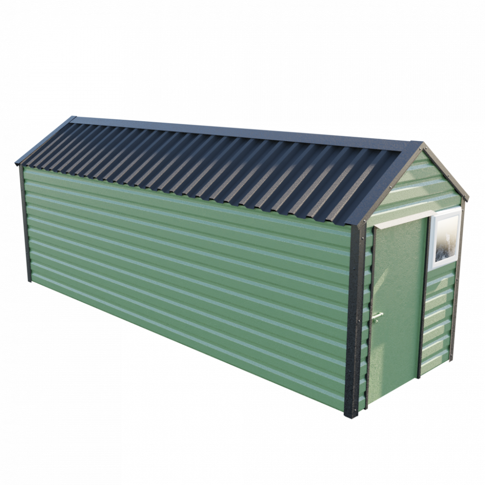 6' x 20' Apex Shed - Olive Green