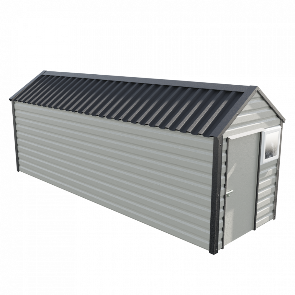6' x 20' Apex Shed - Goosewing Grey