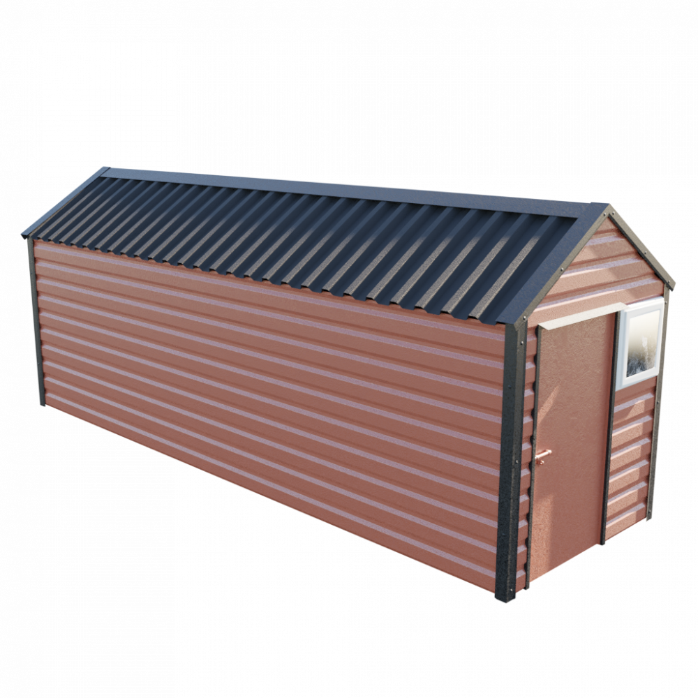 6' x 20' Apex Shed - Terracotta