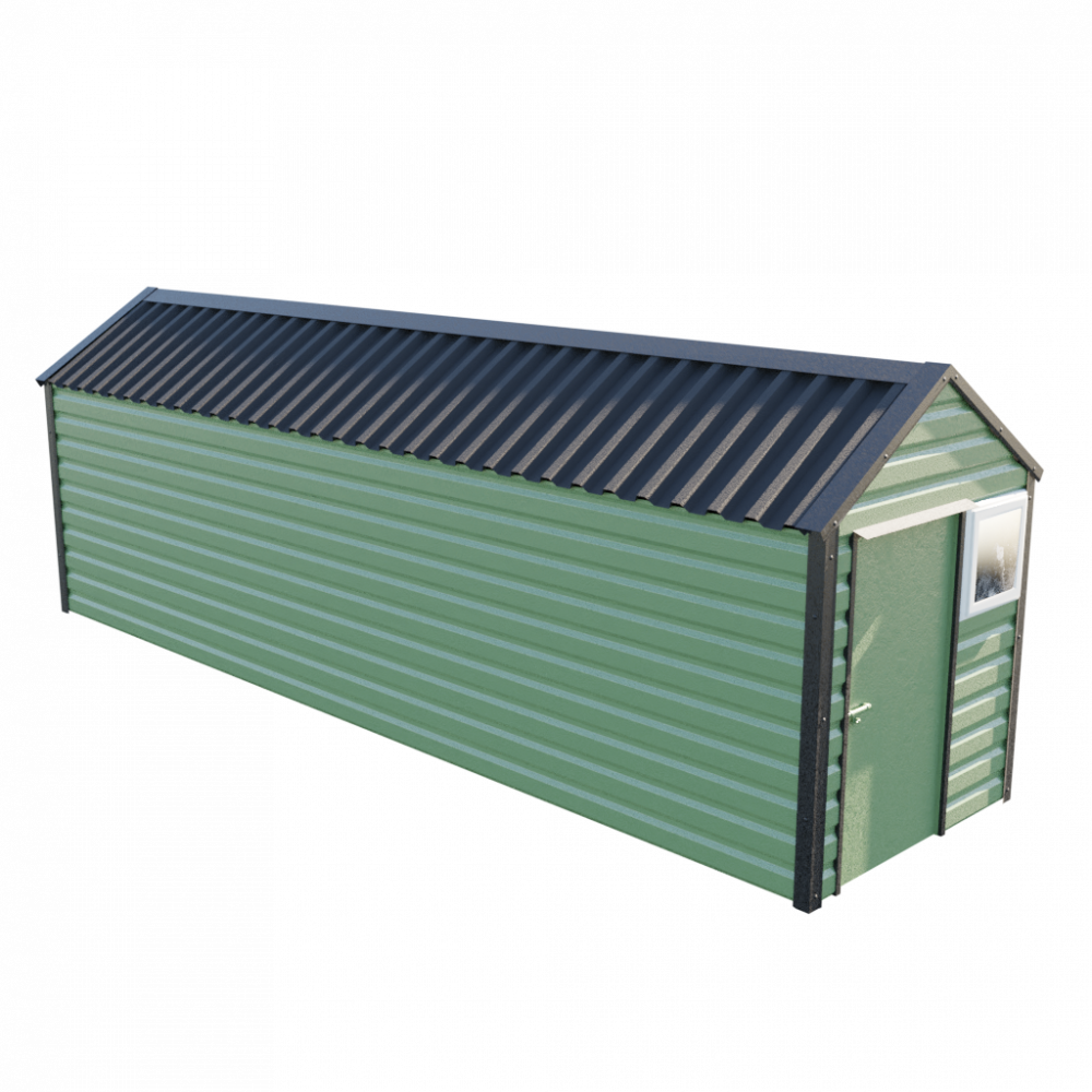 "6' x 23'3"" Apex Shed - Olive Green"