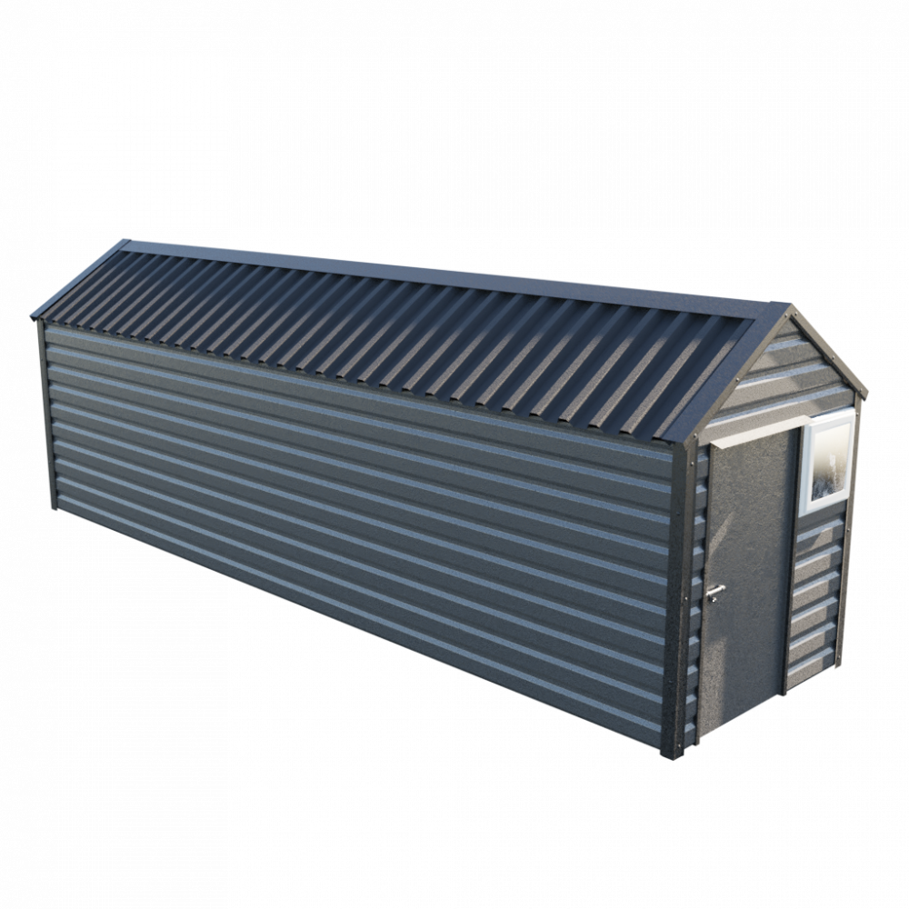 """6' x 23'3"""" Apex Shed - Anthracite"""