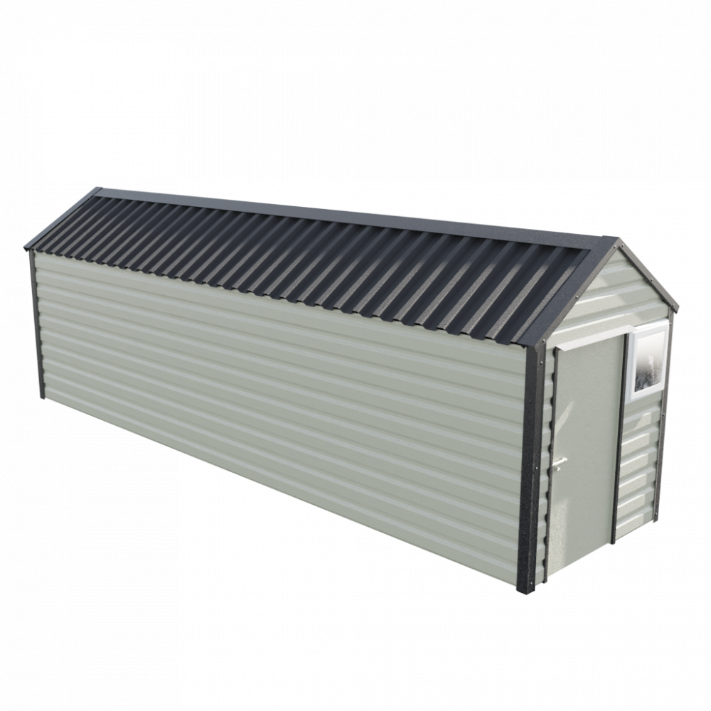 "6' x 23'3"" Apex Shed - Goosewing Grey"