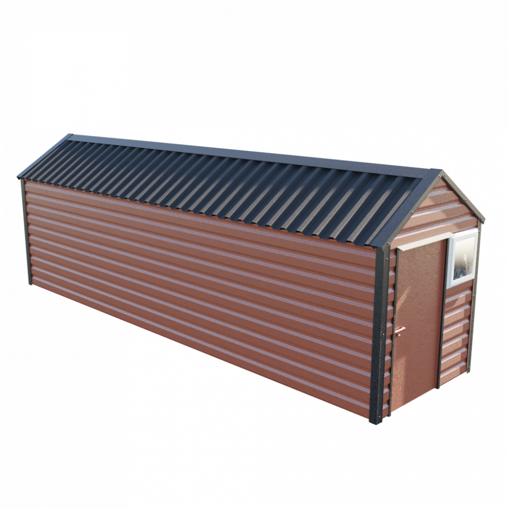 "6' x 23'3"" Apex Shed - Terracotta"
