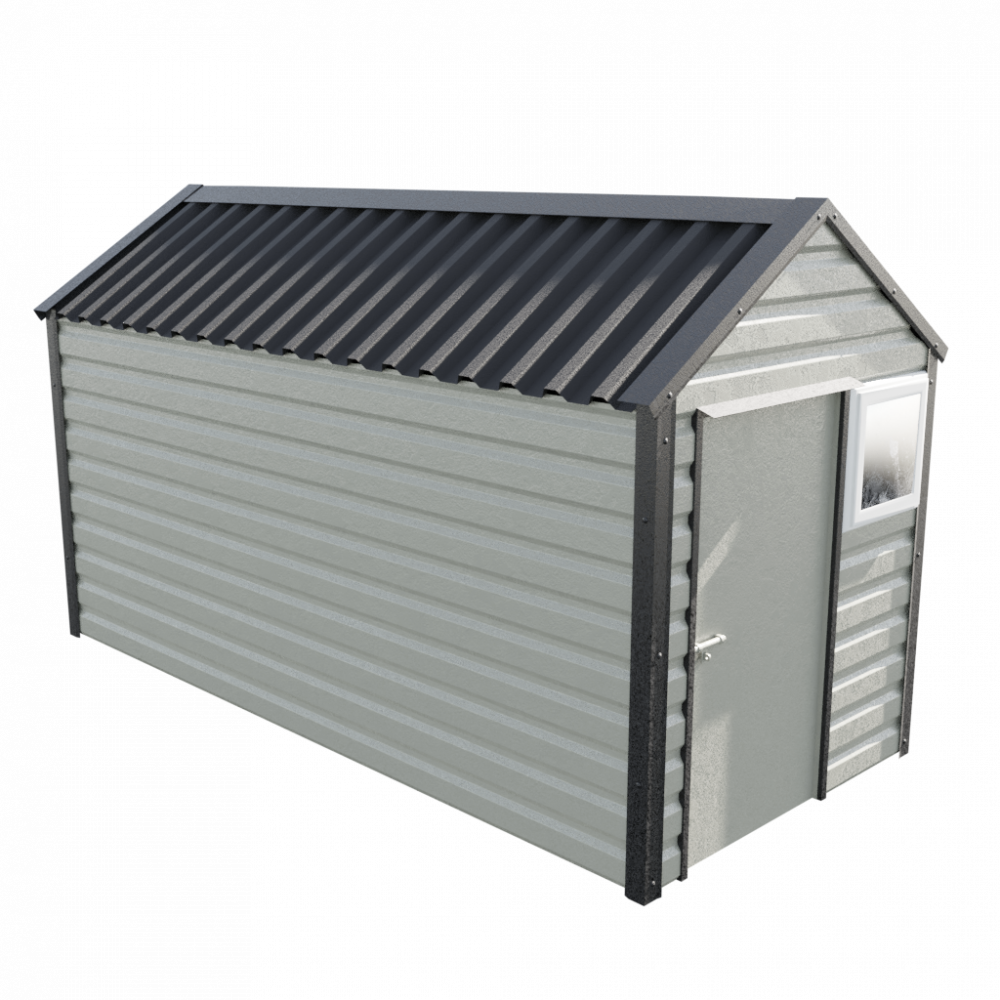 "6' x 13'6"" Apex Shed - Goosewing Grey"