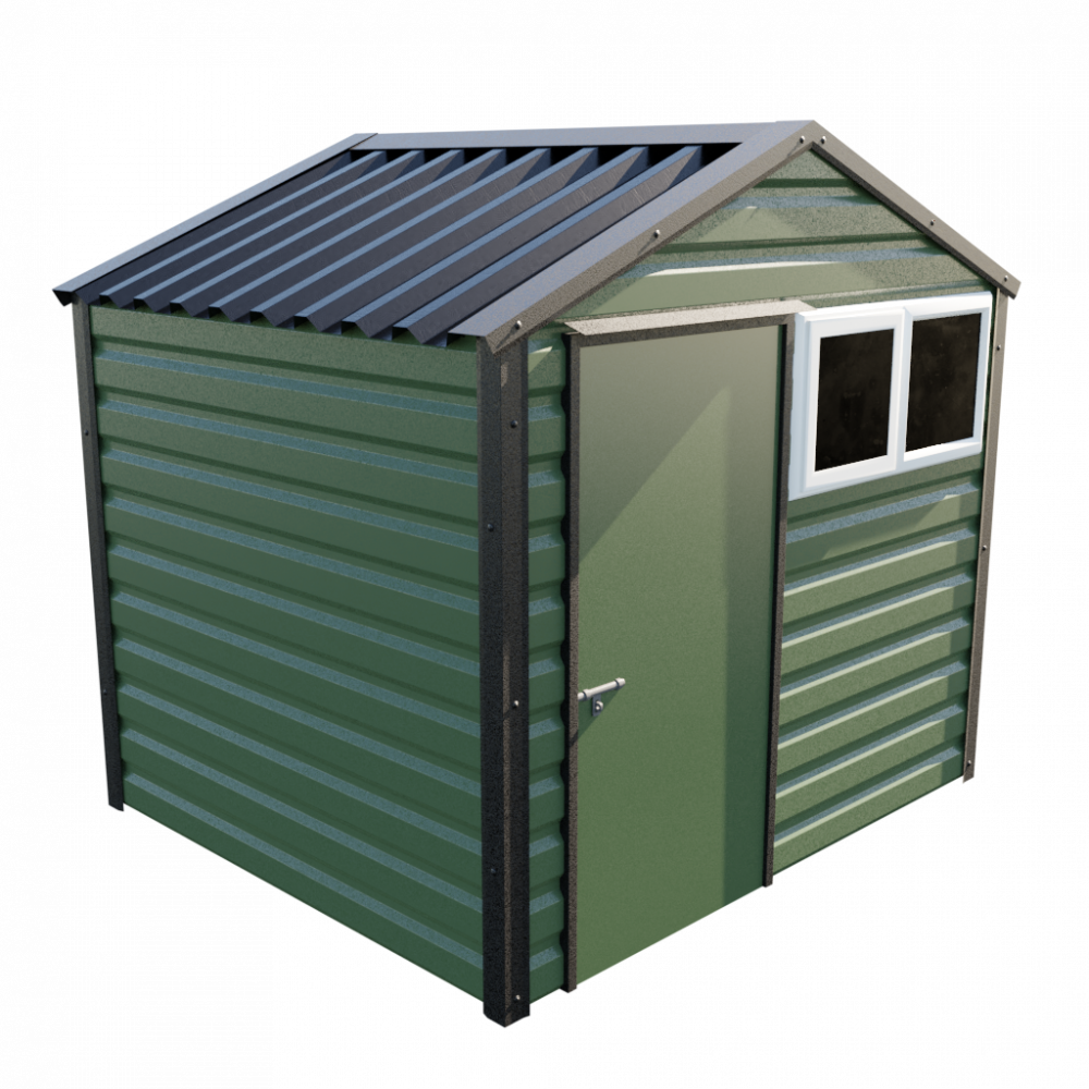 8' x 7' Apex Shed - Olive Green