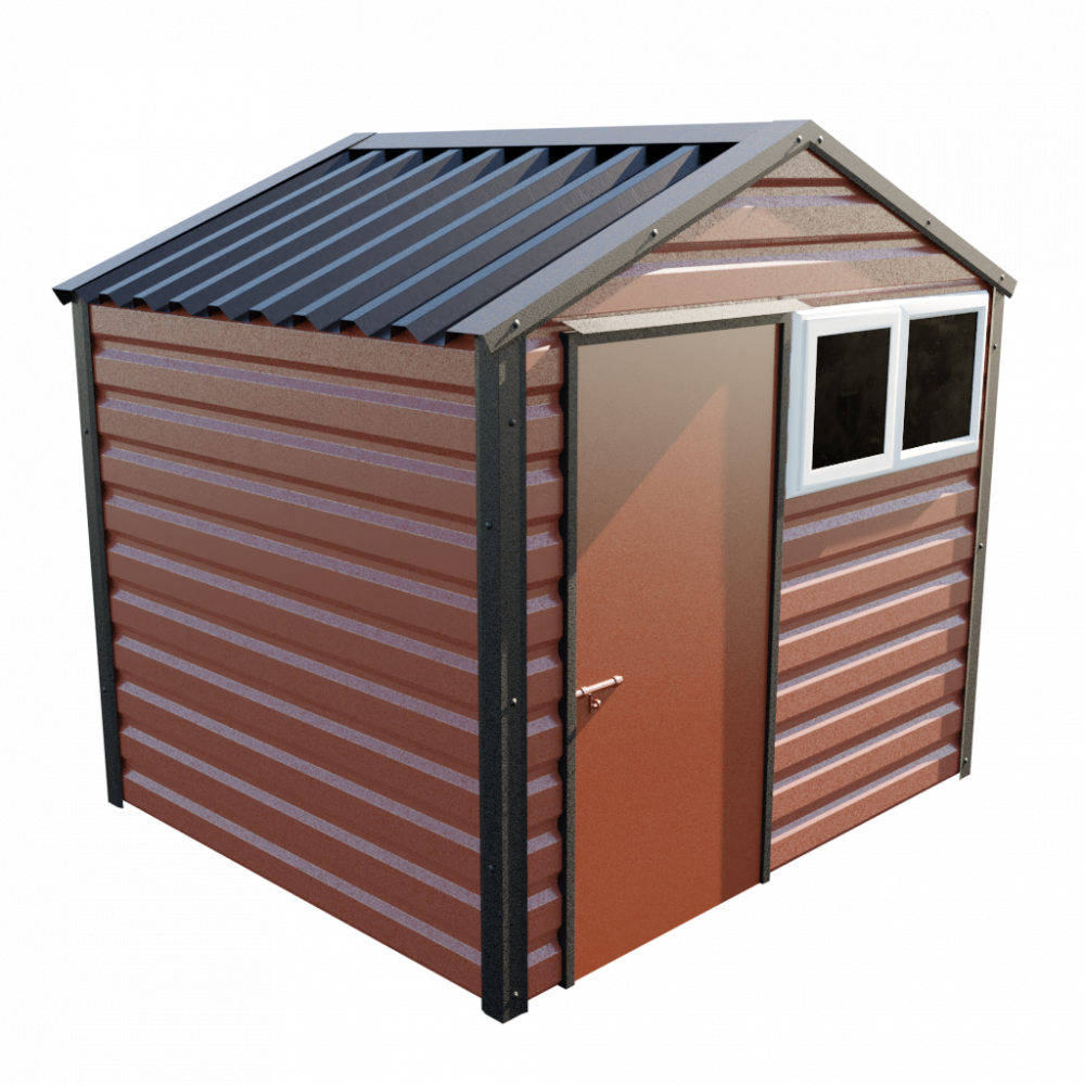 8' x 7' Apex Shed - Terracotta