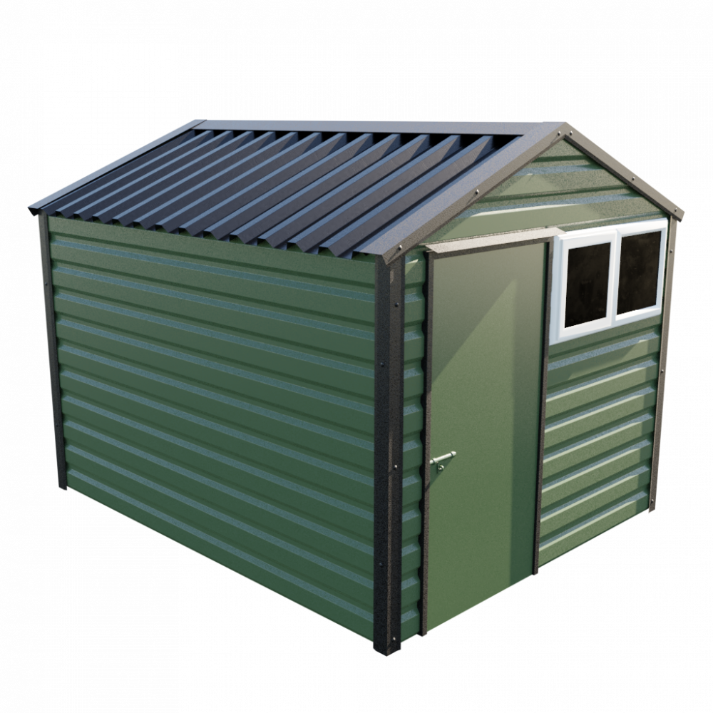 """8' x 10'3"""" Apex Shed - Olive Green"""