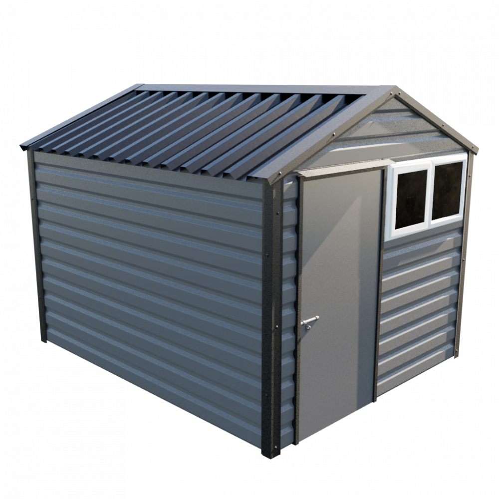 """8' x 10'3"""" Apex Shed - Anthracite"""