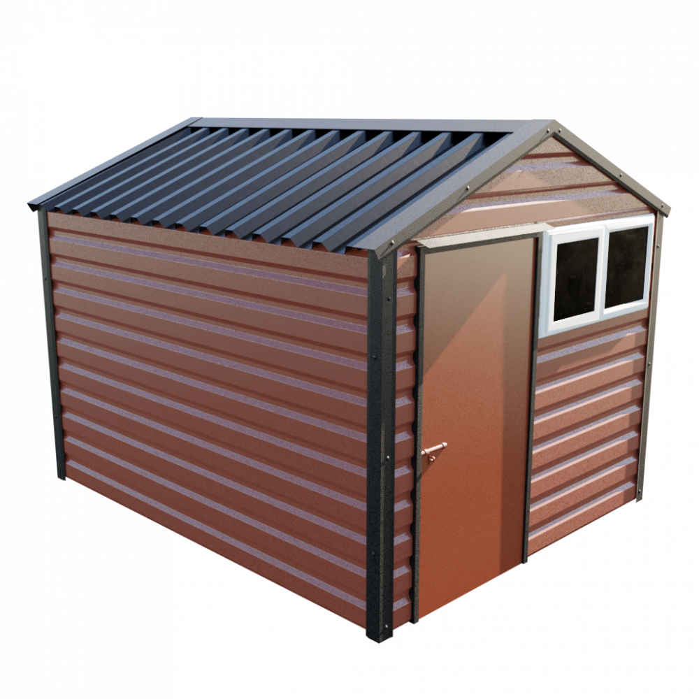 "8' x 10'3"" Apex Shed - Terracotta"