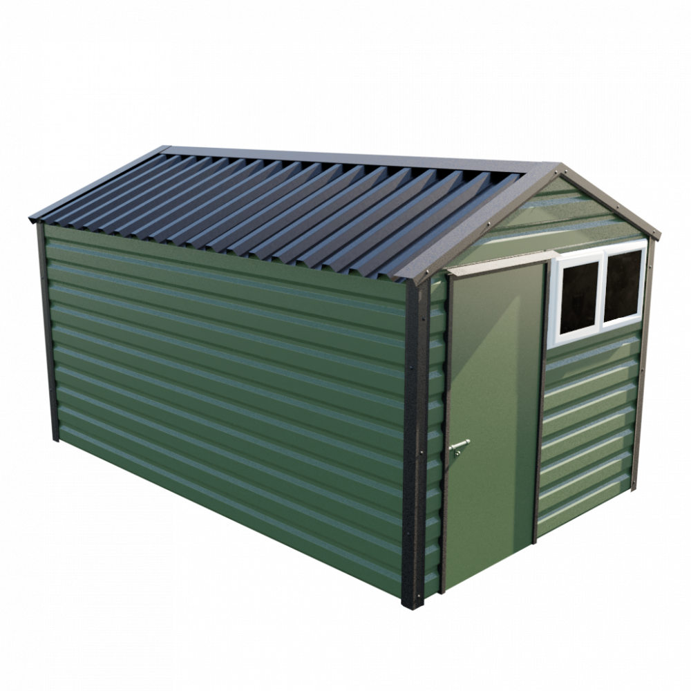 "8' x 13'6"" Apex Shed - Olive Green"
