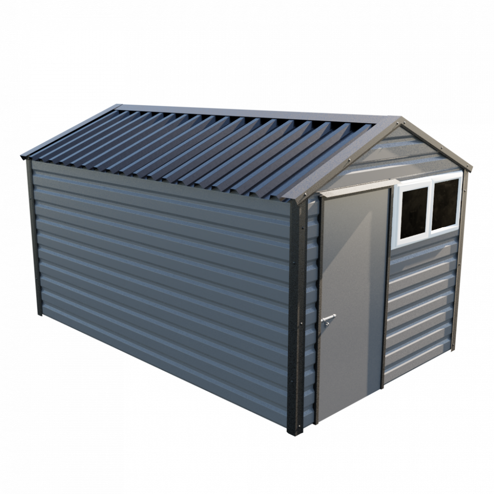 "8' x 13'6"" Apex Shed - Anthracite"