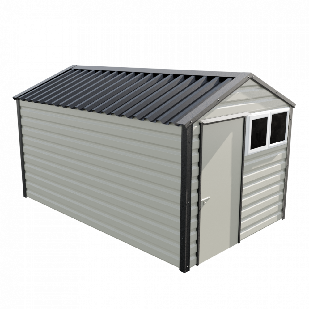 """8' x 13'6"""" Apex Shed - Goosewing Grey"""