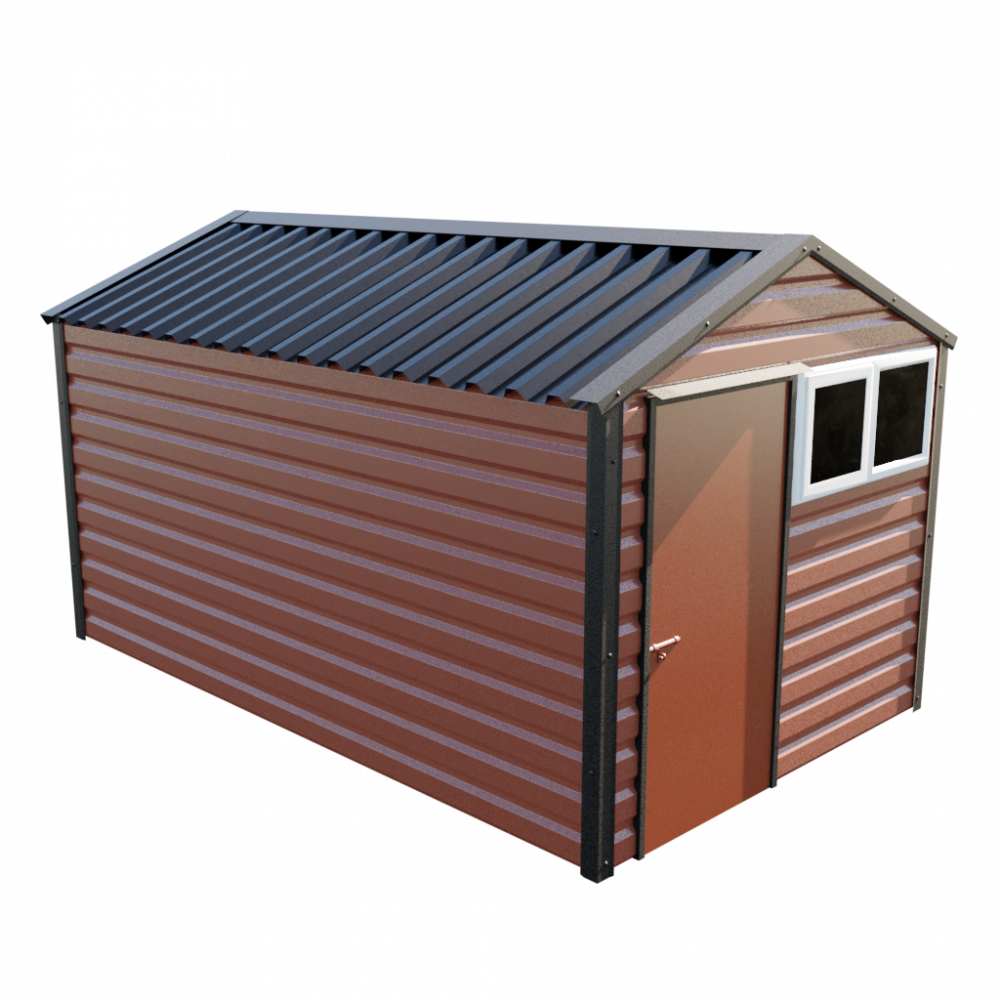 "8' x 13'6"" Apex Shed - Terracotta"