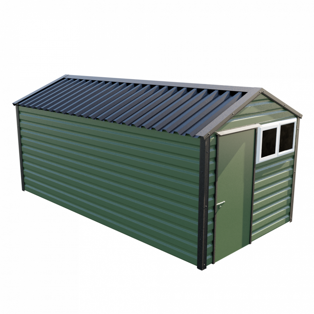 "8' x 16'9"" Apex Shed - Olive Green"
