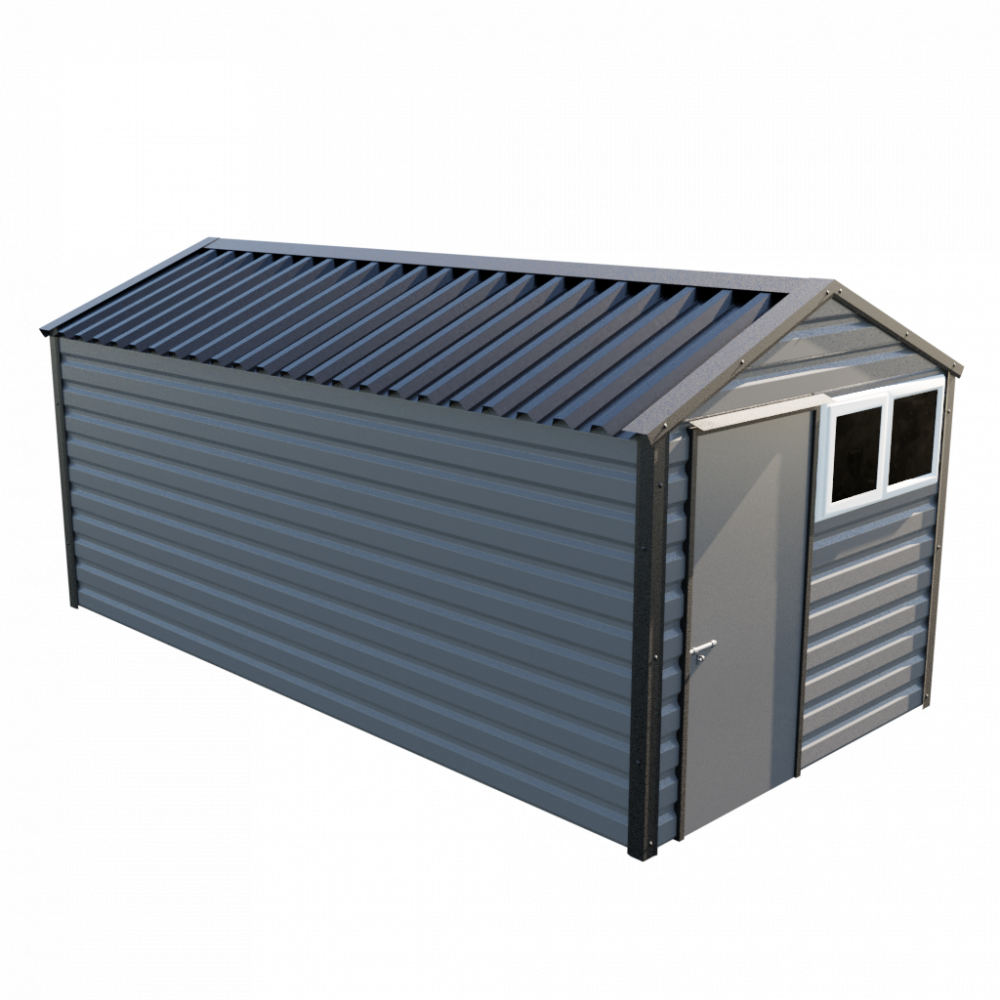 """8' x 16'9"""" Apex Shed - Anthracite"""