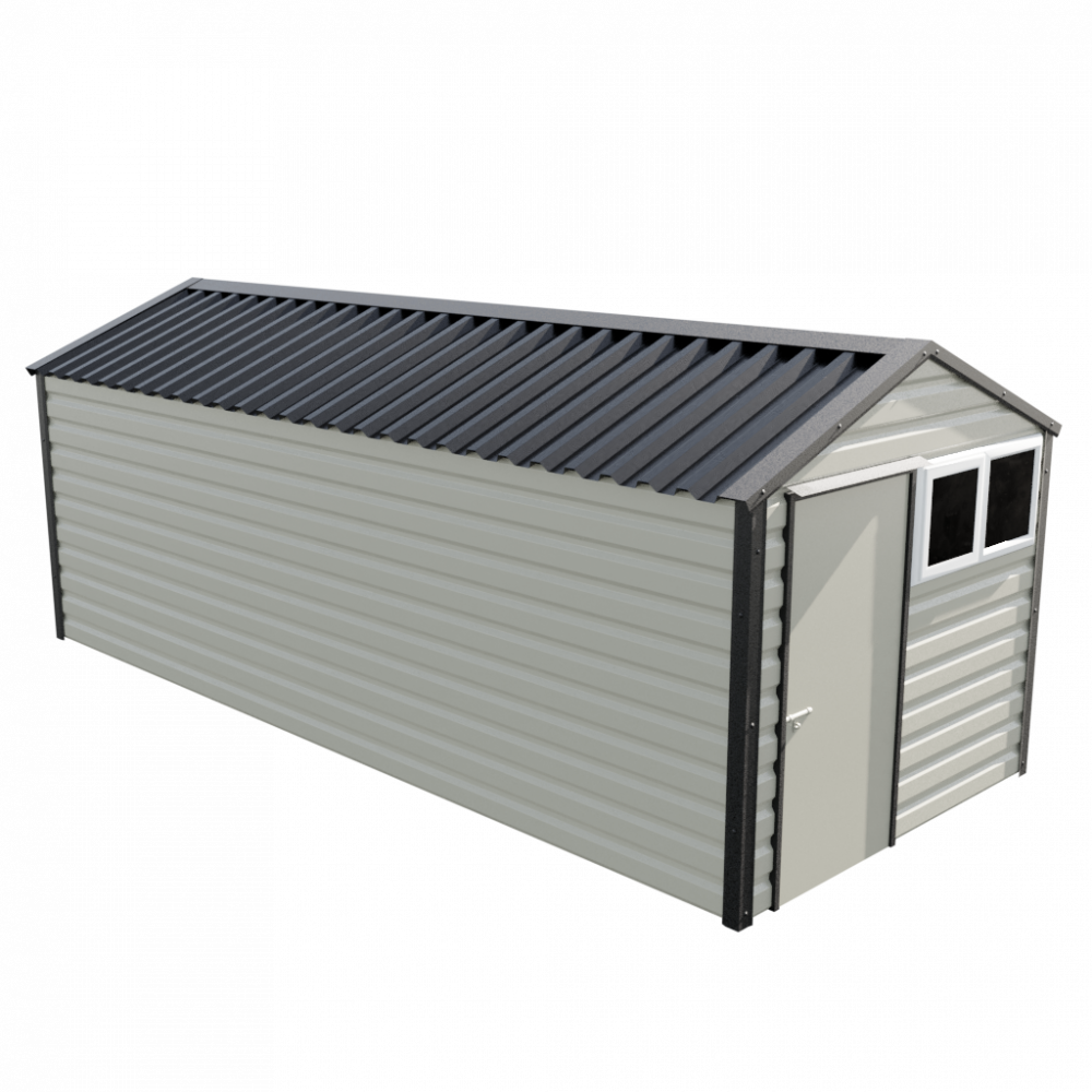 8' x 20' Apex Shed - Goosewing Grey