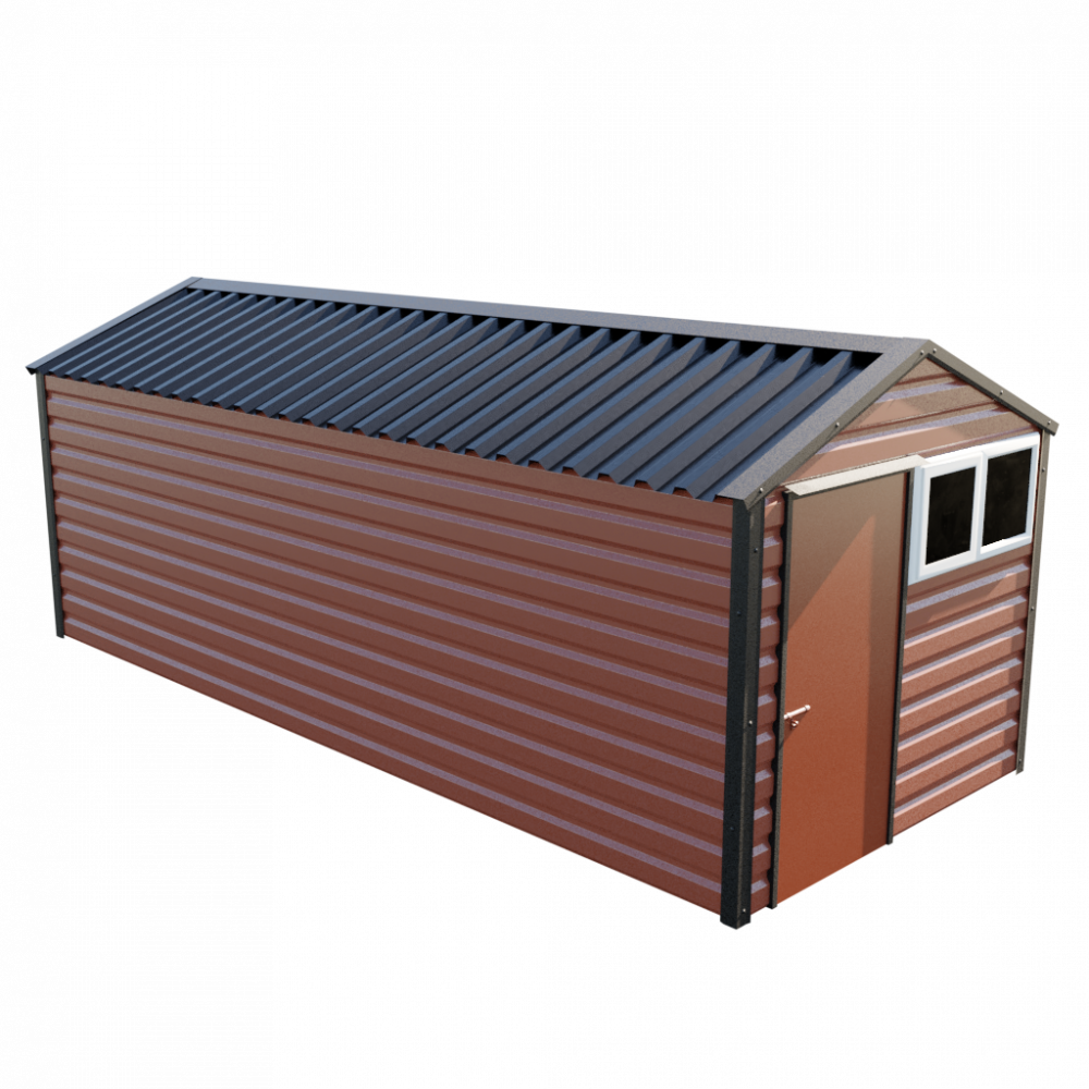8' x 20' Apex Shed - Terracotta