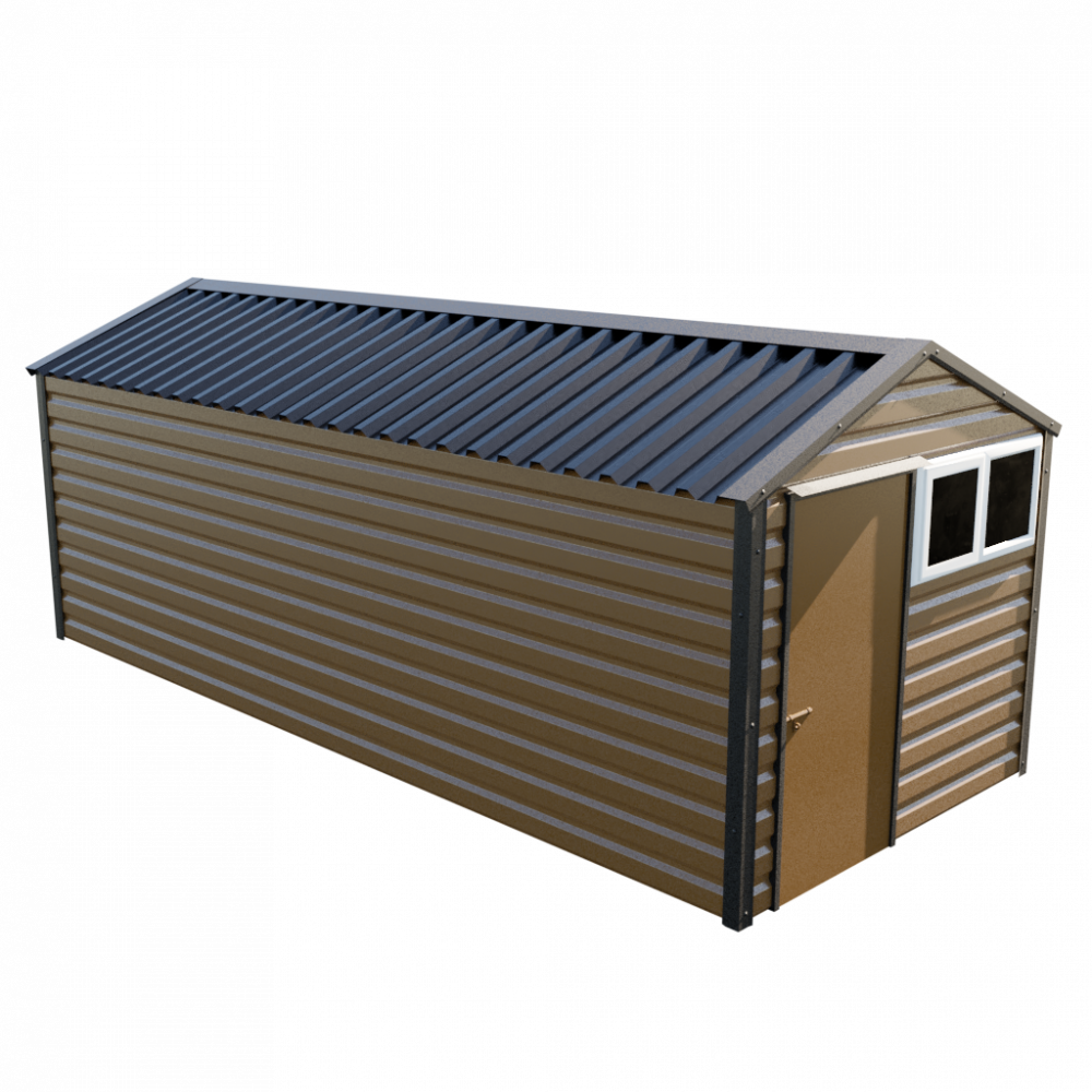 8' x 20' Apex Shed - Vandyke Brown