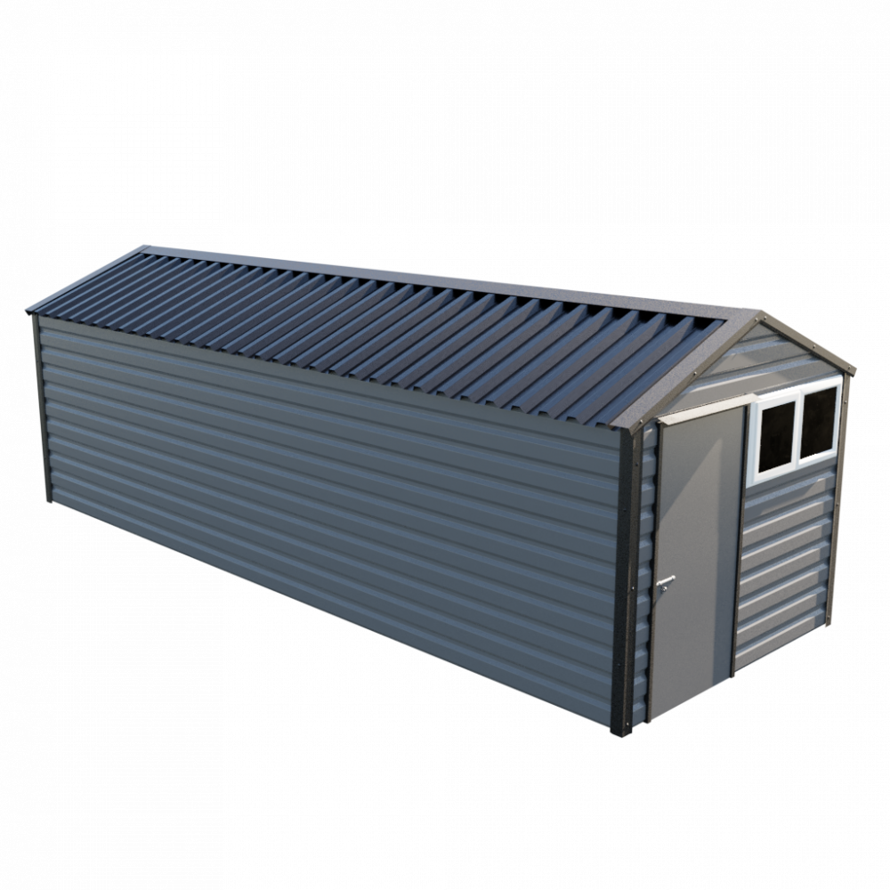 "8' x 23'3"" Apex Shed - Anthracite"