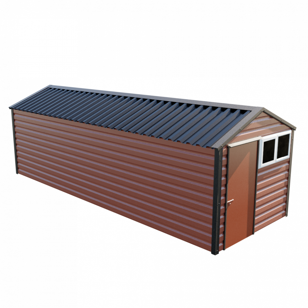 "8' x 23'3"" Apex Shed - Terracotta"