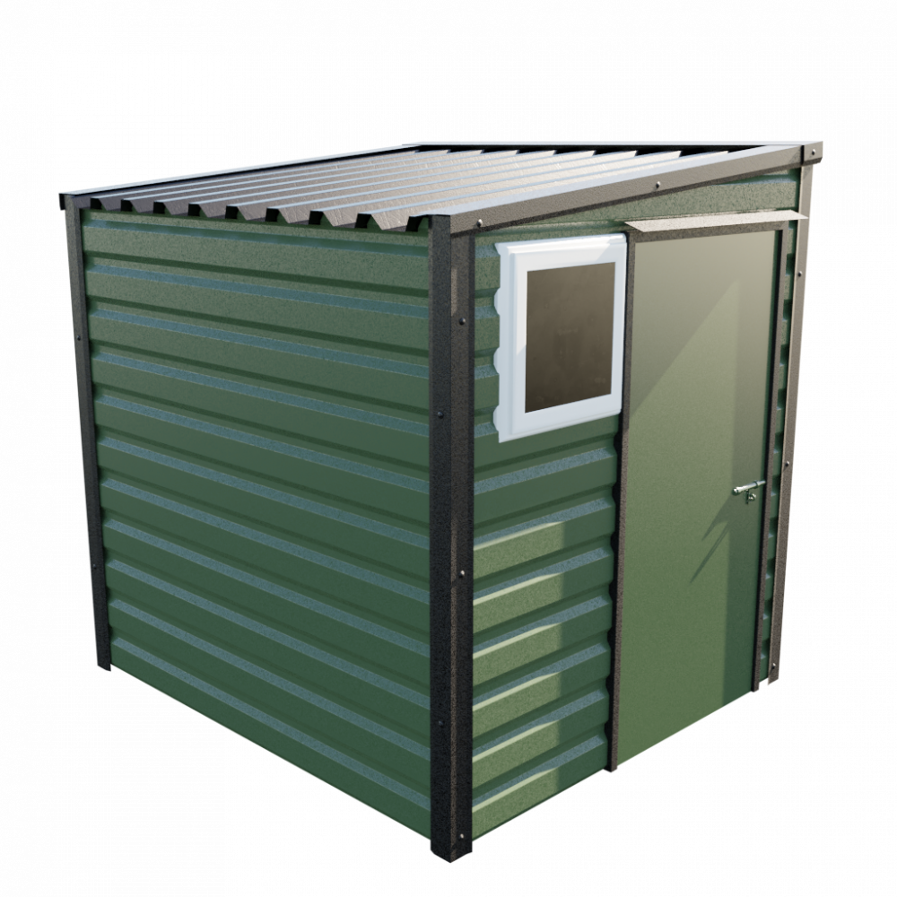 6' x 7' Pent Shed - Olive Green