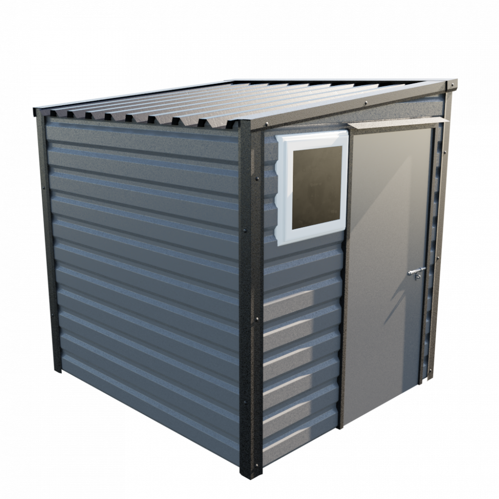 6' x 7' Pent Shed - Anthracite