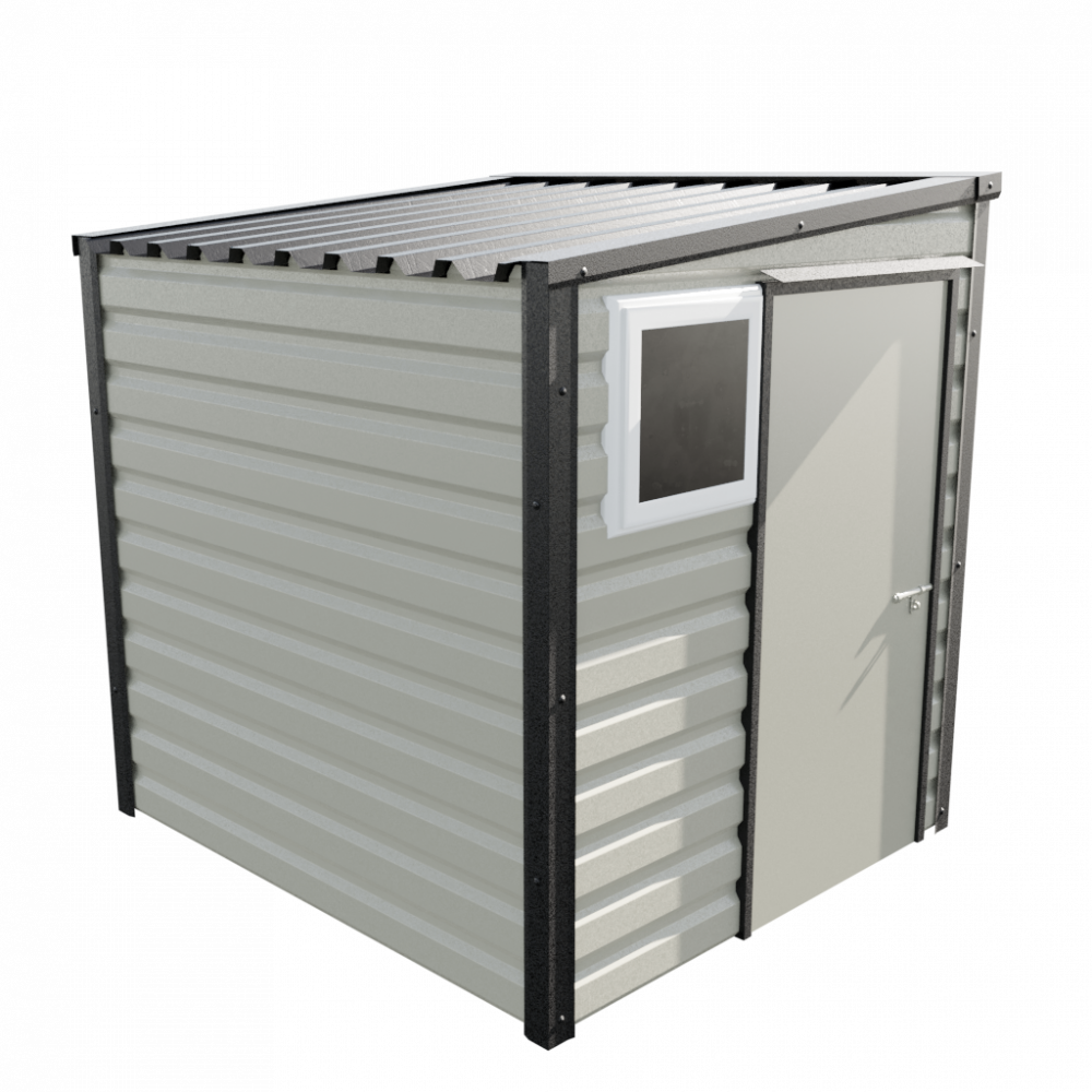 6' x 7' Pent Shed - Goosewing Grey