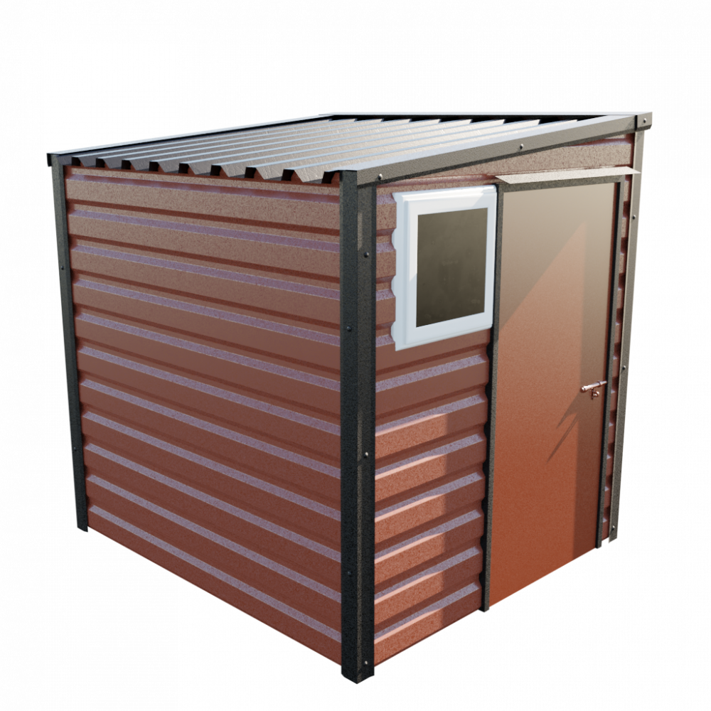 6' x 7' Pent Shed - Terracotta