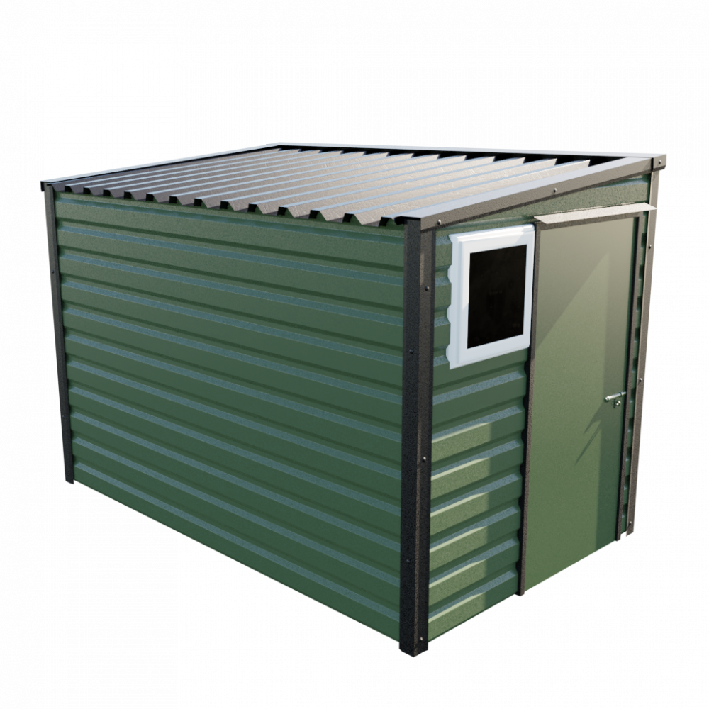 "6' x 10'2"" Pent Shed - Olive Green"