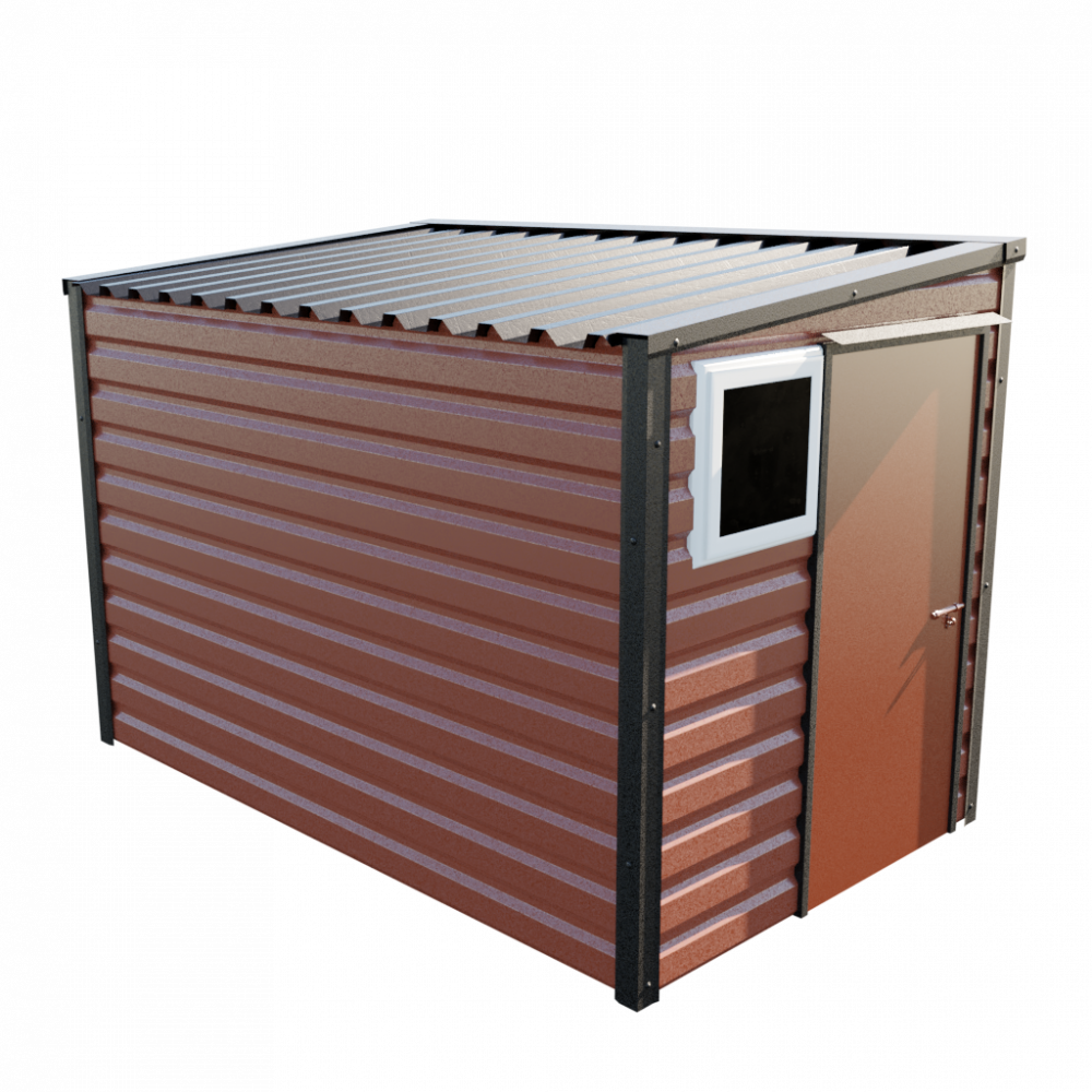 "6' x 10'2"" Pent Shed - Terracotta"