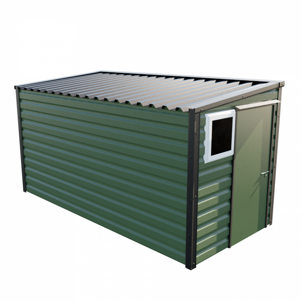 "6' x 13'6"" Pent Shed - Olive Green"