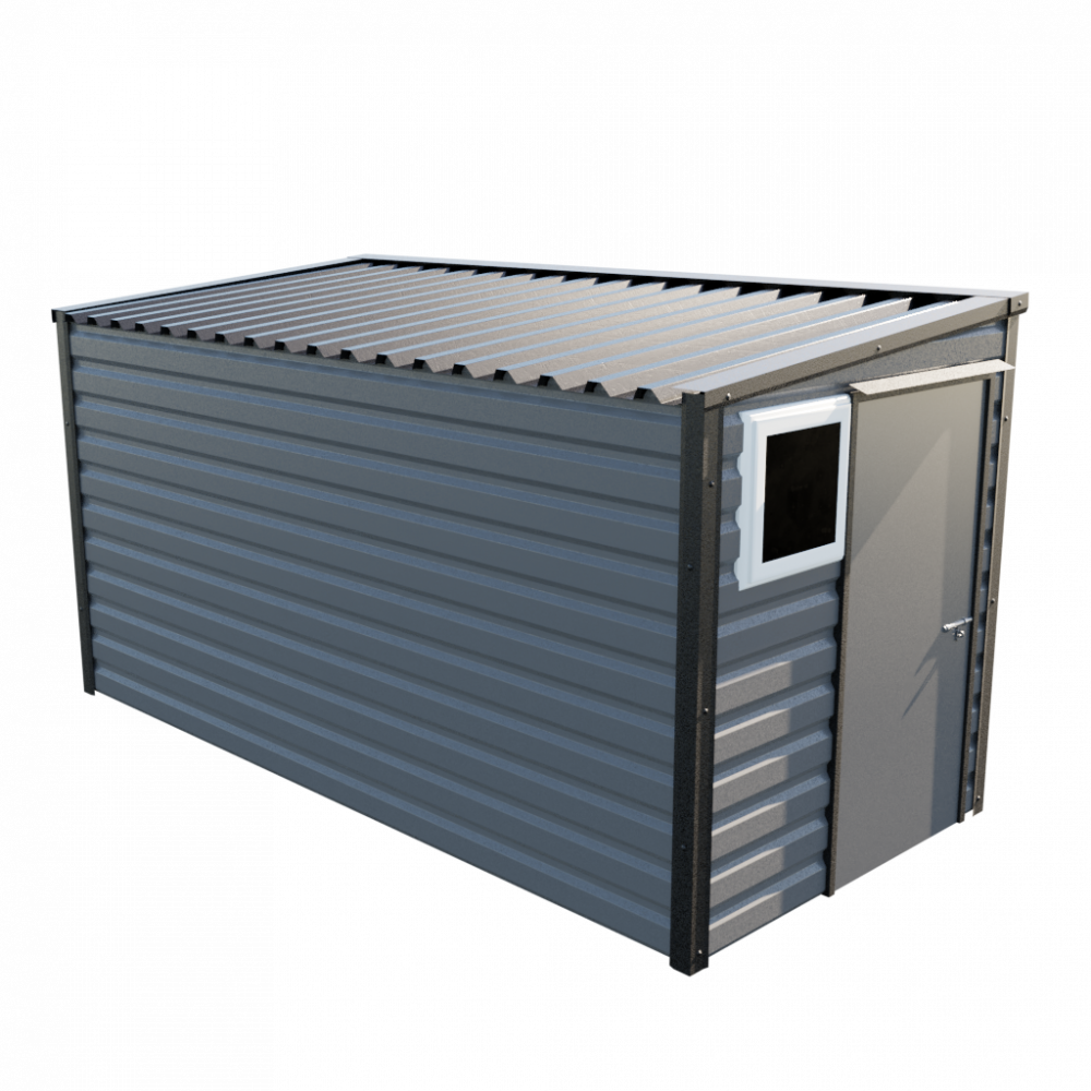 """6' x 13'6"""" Pent Shed - Anthracite"""