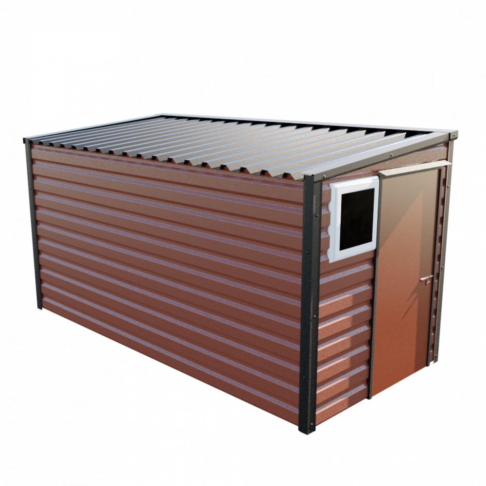 "6' x 13'6"" Pent Shed - Terracotta"