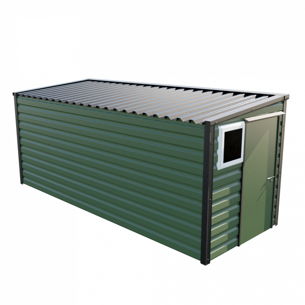 "6' x 16'9"" Pent Shed - Olive Green"