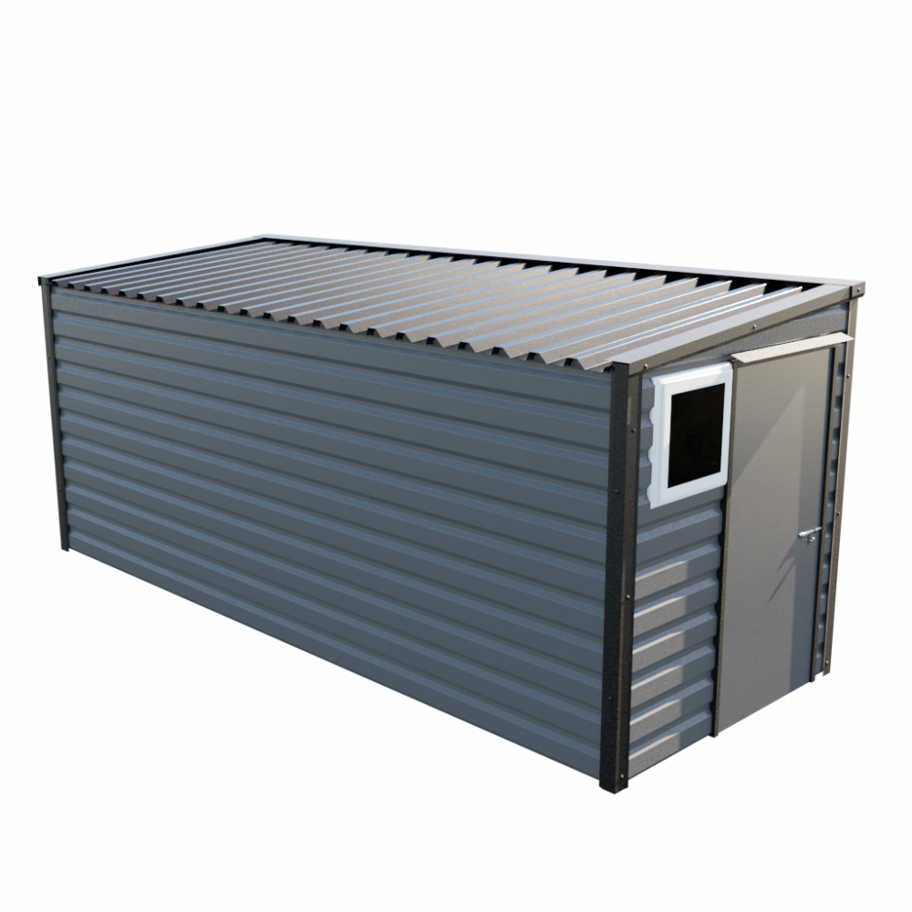 """6' x 16'9"""" Pent Shed - Anthracite"""