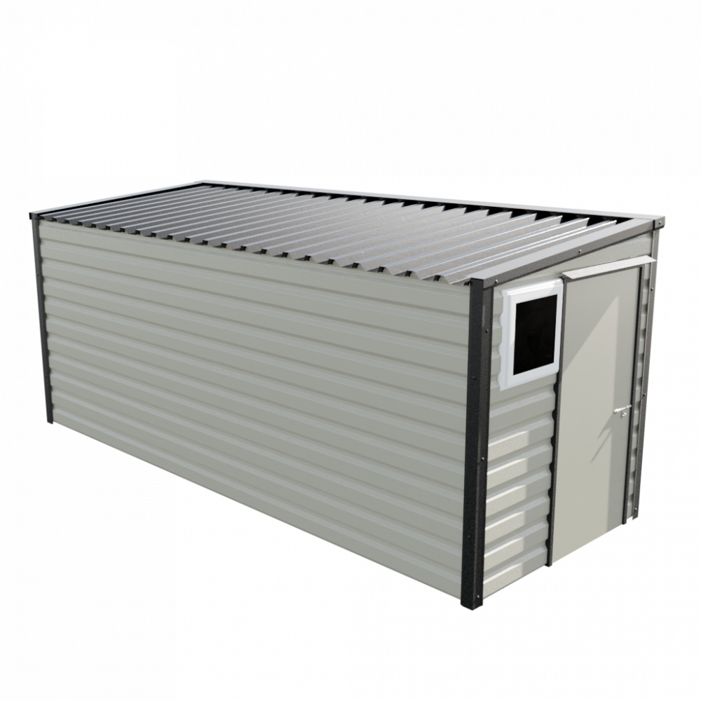"""6' x 16'9"""" Pent Shed - Goosewing Grey"""
