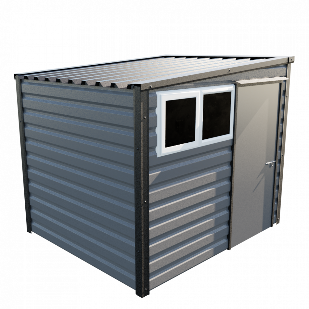 8' x 7' Pent Shed - Anthracite