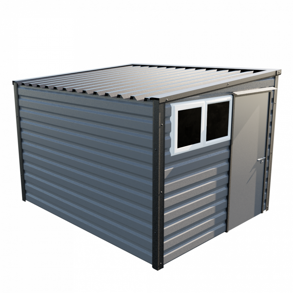 """8' x 10'2"""" Pent Shed - Anthracite"""