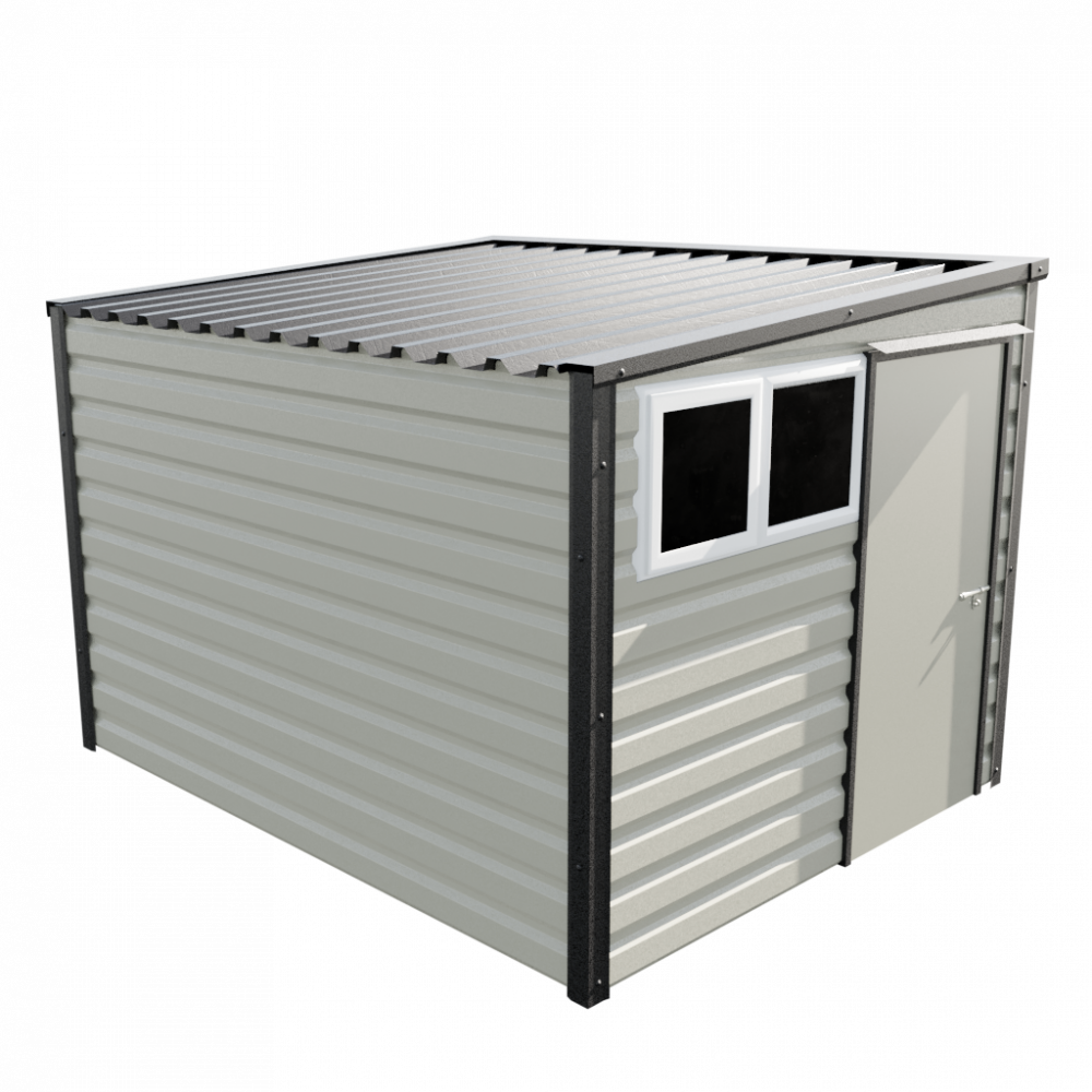 "8' x 10'2"" Pent Shed - Goosewing Grey"