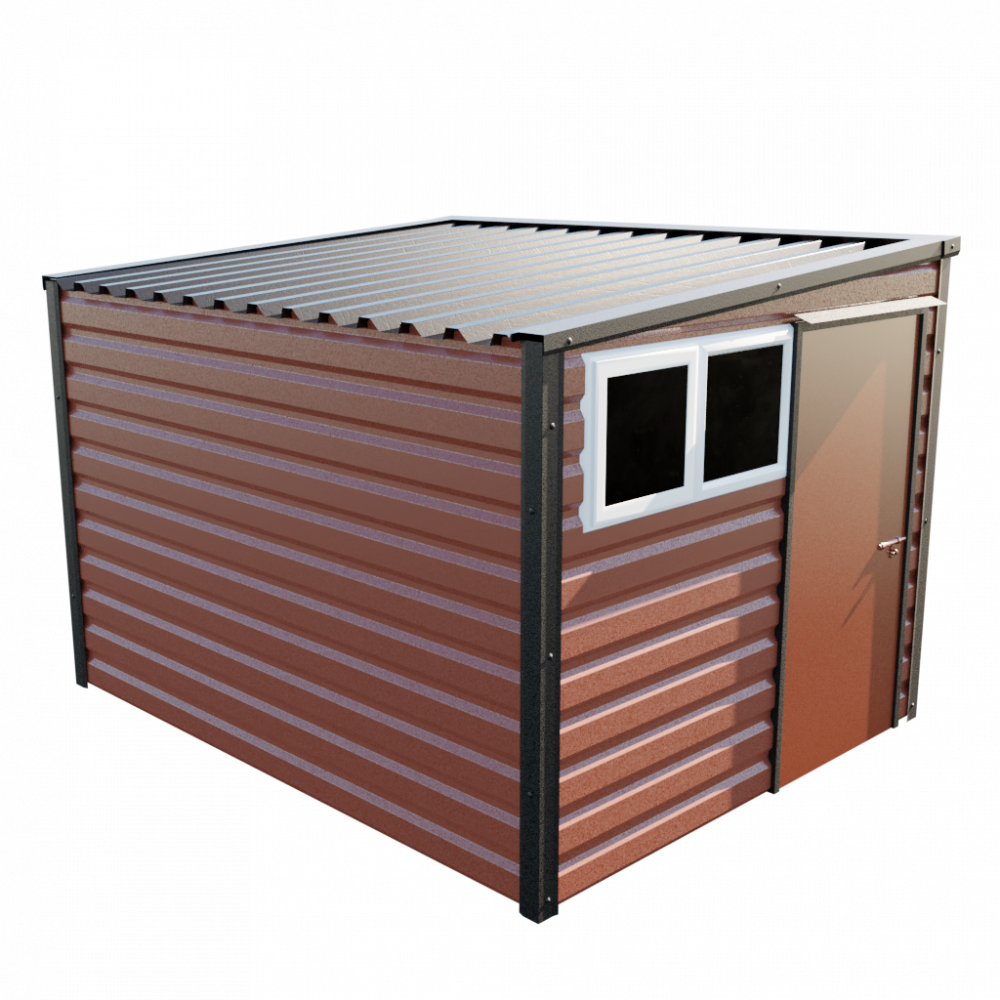 "8' x 10'2"" Pent Shed - Terracotta"