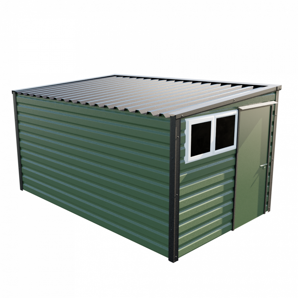 "8' x 13'6"" Pent Shed - Olive Green"
